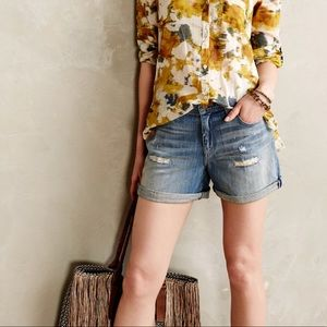 Anthropologie Pilcro Hyphen Denim Shorts